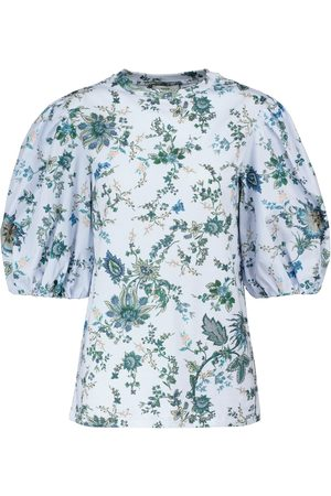 Erdem Theodora floral cotton top