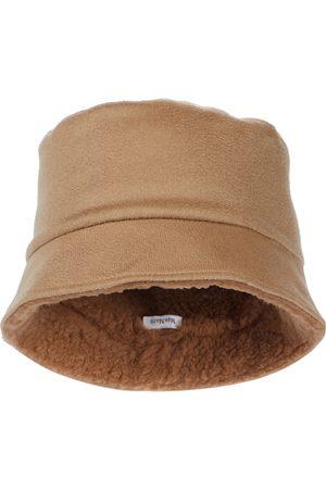 Max Mara Mujer Sombreros - Logo cashmere bucket hat