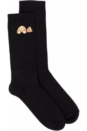 Palm Angels Hombre Calcetines - Calcetines con motivo Bear