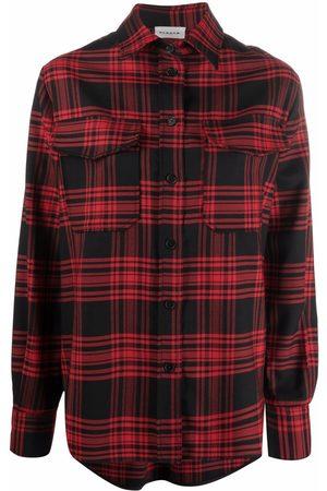 P.a.r.o.s.h. Mujer Camisas - Camisa con estampado de cuadros