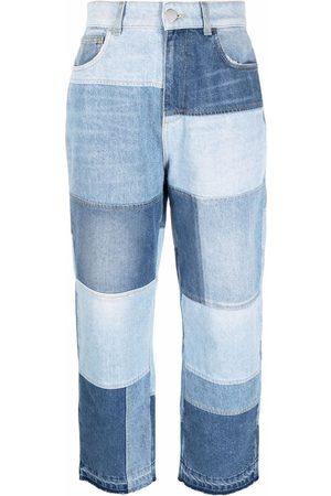 Pinko Jeans rectos con diseño patchwork