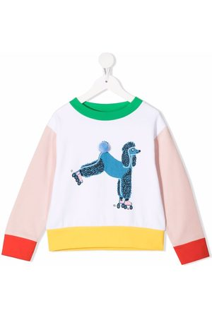 Stella McCartney Niña Con capucha - Sudadera con estampado Poodle
