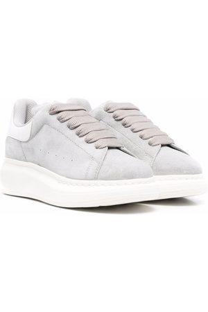 Alexander McQueen Kids Niño Tenis - Lace-up flatform sneakers