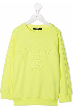 Balmain Raised logo cotton sweatshirt