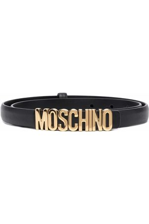 Moschino Mujer Cinturones - Logo-lettering leather belt