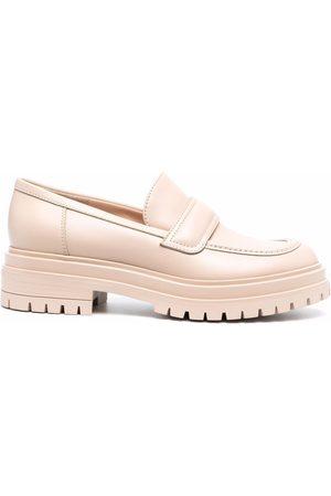Gianvito Rossi Ridged-sole loafers