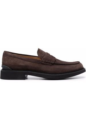 Tod's Hombre Mocasines - Almond-toe suede loafers