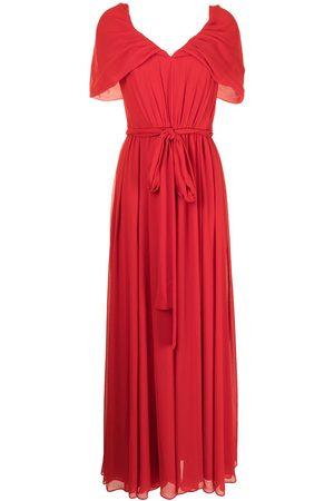 Badgley Mischka Mujer Vestidos de noche - Pleated V-neck gown