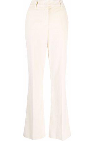 P.a.r.o.s.h. Mujer De vestir - Straight-leg corduroy trousers