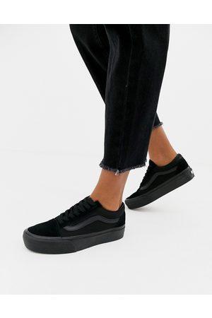 Vans Old Skool black platform trainers in black