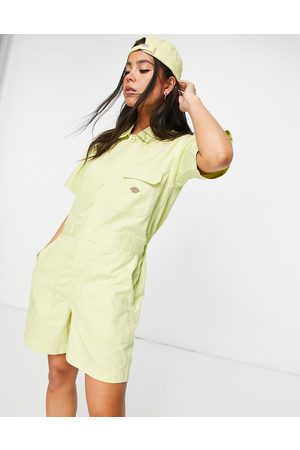 Dickies Dovray playsuit in mellow green