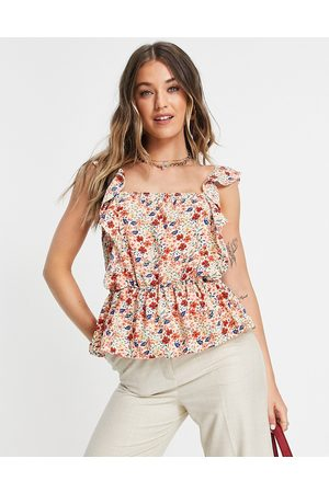 In The Style X Jac Jossa frill detail top co ord in multi floral print
