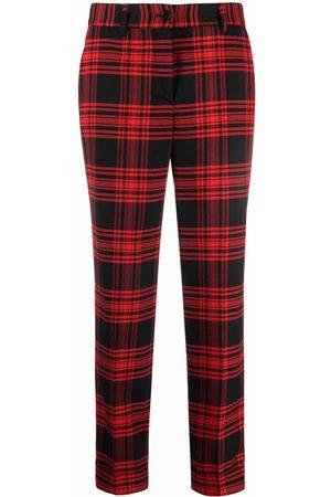 P.a.r.o.s.h. Mujer Slim y skinny - Plaid-check print trousers