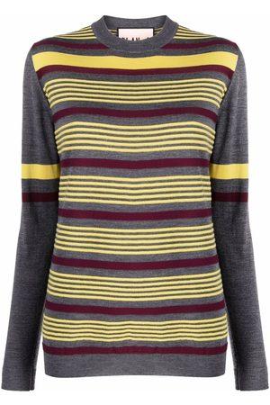 Plan C Mujer Suéteres cerrados - Striped knit jumper
