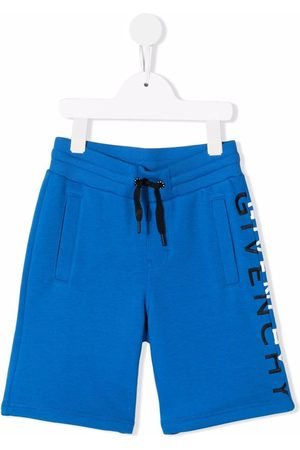 Givenchy Kids Niño Bermudas - Embroidered-logo shorts