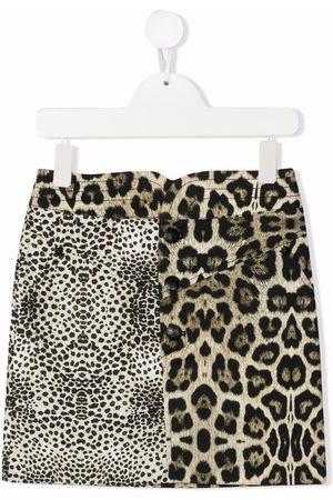 John Richmond Junior Niña Faldas - Leopard-print skirt