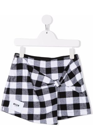 Msgm Niña Faldas - Gingham check print skirt