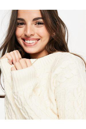 Skylar Rose Mujer Suéteres cerrados - Cropped cable knit jumper co
