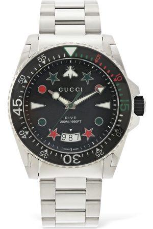 """Gucci Reloj """" Dive Xl"""" Con Goma 45mm"""