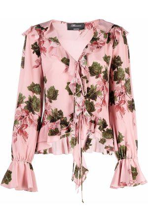 BLUMARINE Mujer Blusas - Blusa de seda con estampado floral