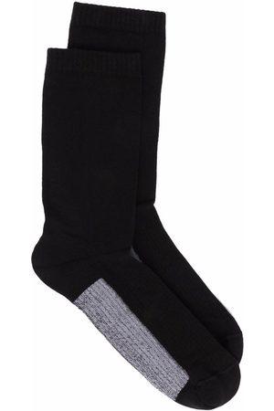 Rick Owens Hombre Calcetines - Calcetines de canalé con diseño color block