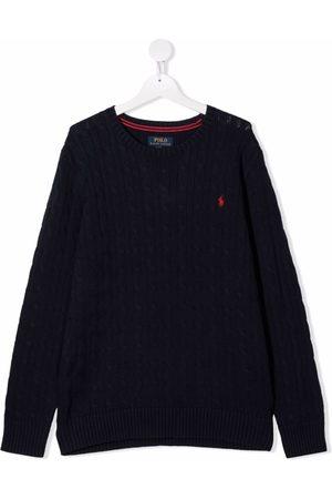 Ralph Lauren Niña Tops - Suéter tejido con logo bordado