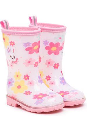 Miki House Botas de lluvia con estampado floral