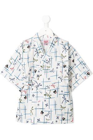 Miki House Pijama estilo kimono estampado