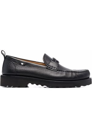 Bally Hombre Mocasines - Logo-plaque leather loafers