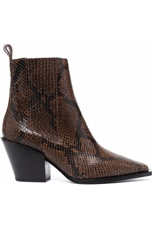 Aeyde Kate snakeskin-effect ankle boots