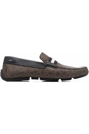 Bally Hombre Mocasines - Monogram-print leather loafers