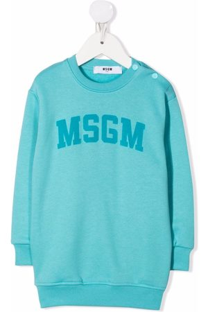Msgm Estampados - Logo-print sweater dress