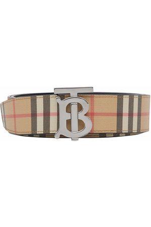 Burberry Hombre Cinturones - Monogram-buckle belt