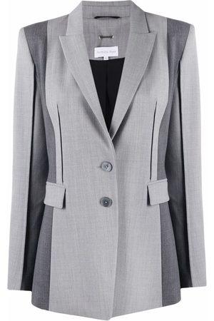 Patrizia Pepe Stripe-trim single-breasted blazer