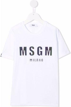 MSGM Kids Niño Playeras - Logo-print short-sleeved T-shirt