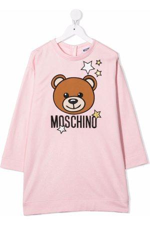 Moschino Kids Vestido de tejido jersey con motivo Teddy Bear