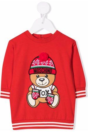 Moschino Estampados - Vestido estilo sudadera con motivo Teddy Bear
