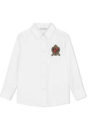 Dolce & Gabbana Camisa con logo bordado
