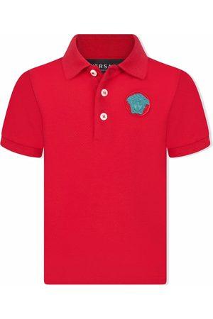 VERSACE Polos - Medusa-embroidered polo shirt
