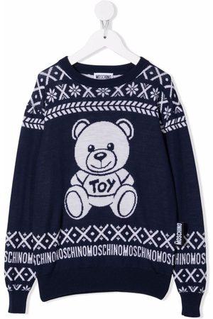 Moschino Kids Niño Suéteres - Suéter con motivo Teddy Bear