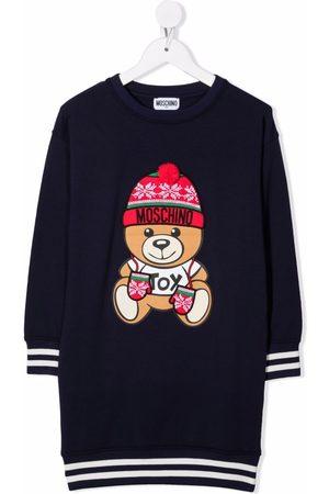 Moschino Niña Suéteres - Vestido estilo suéter tejido con logo