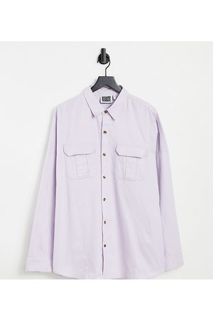 Reclaimed Inspired relaxed overshirt in lilac