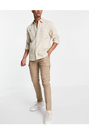 ASOS Cargo skinny smart trouser in stone