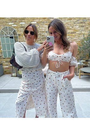 Labelrail X Collyer Twins belted trousers in scattered spot co