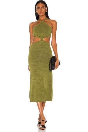 Cult Gaia Mujer Vestidos - Vestido cameron en color talla L en - Olive. Talla L (también en XS, S, M).