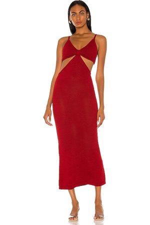 Cult Gaia Vestido serita en color rojo talla L en - Red. Talla L (también en XS, S, M).