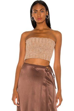 Cult Gaia Azlyn knit top en color beige talla L en - Beige. Talla L (también en XS, S, M).
