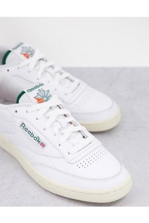 Reebok Classics Club C trainers with towelling details in white