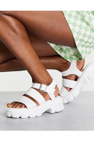 Schuh Tamia chunky sandals in white