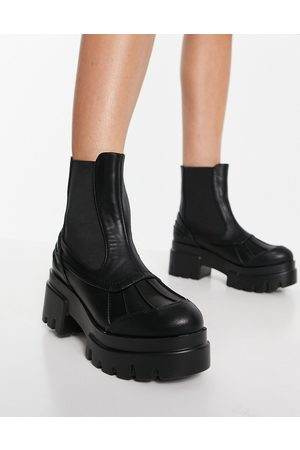 Ego Raven chunky boots in black